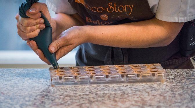 Chocolate making at Choco Story Belgium