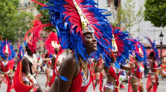 Performers at the Carnaval de Paris